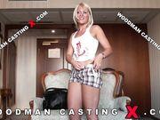 Блондинка с шикарной задницей Sandra H на кастинге Woodman