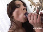 Порно модель Angel Rivas любит двойной анал