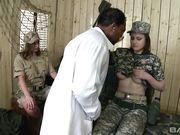 Военный доктор снял с двух девушек военную форму