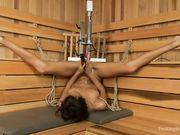Janice Griffith в сауне расслабляется с секс роботом