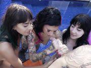 Joanna Angel, Charlotte Sartre и Janice Griffith участвуют в горячем порно вчетвером