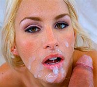 сперма на лице у женщины
